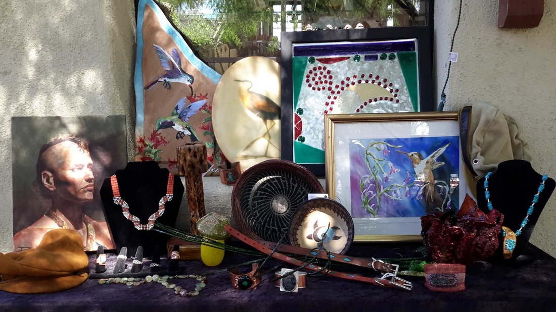 Works by the artists and artisans of Cactus Wren Artisans