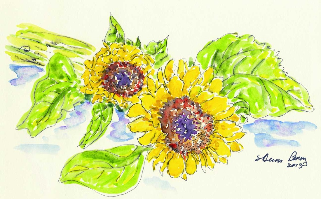 Sunflowers, by Shirley Dunn Perry